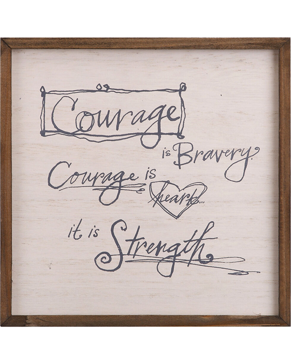Demdaco Cream Poetic Threads Courage Plaque , Cream, hi-res