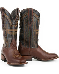 Stetson Men's Goat Vamp Western Boots, Brown, hi-res