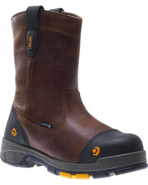 "Wolverine Men's Blade LX 10"" Wellington Work Boots - Composite Toe, Brown, hi-res"