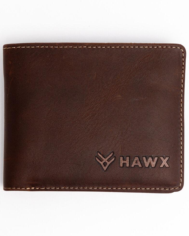 Hawx® Men's Biford Leather Wallet , Brown, hi-res