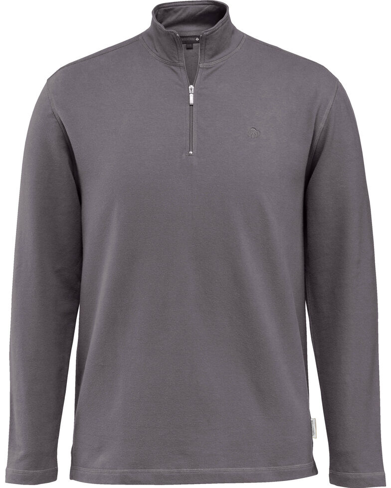 Wolverine Men's Benton 1/4 Zip Long Sleeve Shirt Jacket, Dark Grey, hi-res