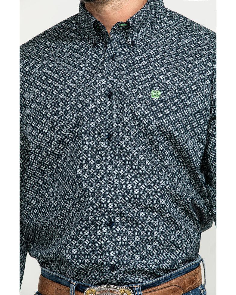 Cinch Men's Multi Small Geo Print Button Long Sleeve Western Shirt , Multi, hi-res