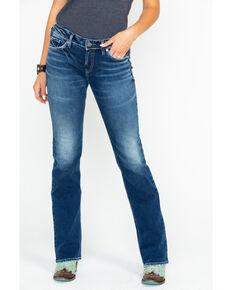 2e6966be180 Silver Women s Suki Mid-Rise Curvy Slim Boot Cut Jeans