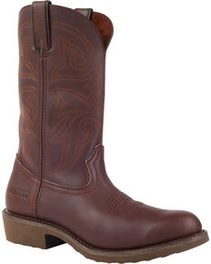 Durango Men's Farm N' Ranch Brown Western Boots - Round Toe, Brown, hi-res