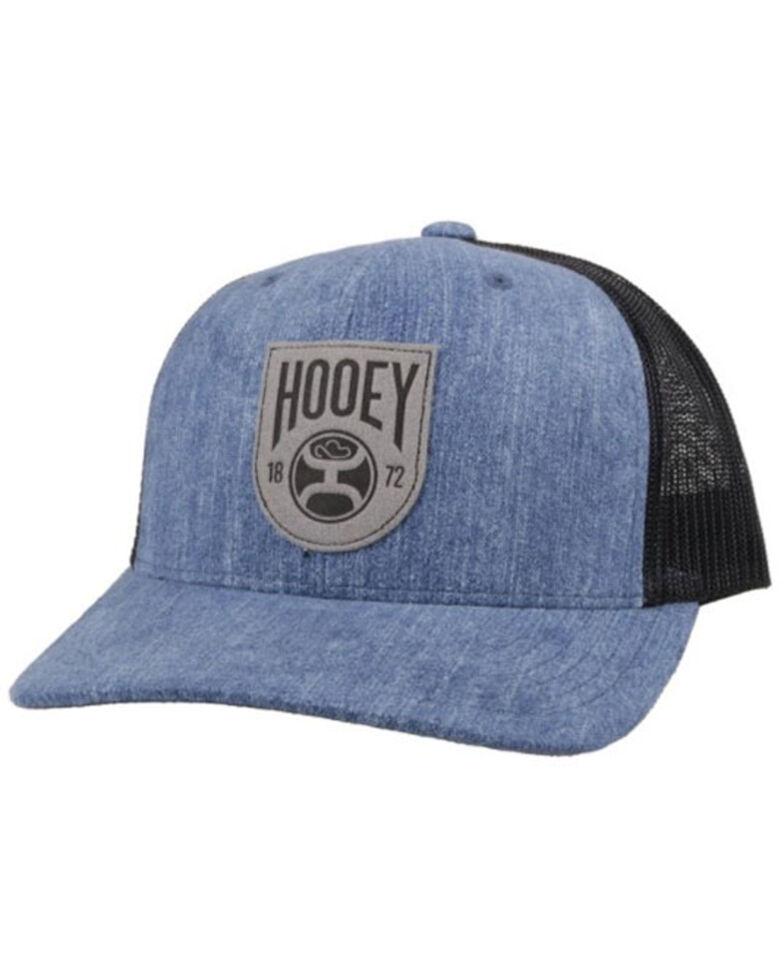 HOOey Men's Tan Bronx Logo Patch Mesh Ball Cap , Blue, hi-res