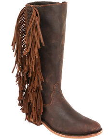 Liberty Black Women's Keeper Fashion Booties - Round Toe, Brown, hi-res
