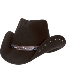 b5d831cbd Master Hatters Women s Black Star Crushable Fashion Wool Hat