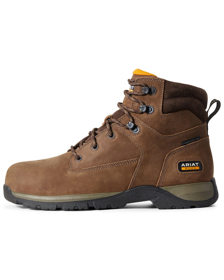 Ariat Men's Edge Lite Lace-Up Work Boots - Composite Toe, Brown, hi-res