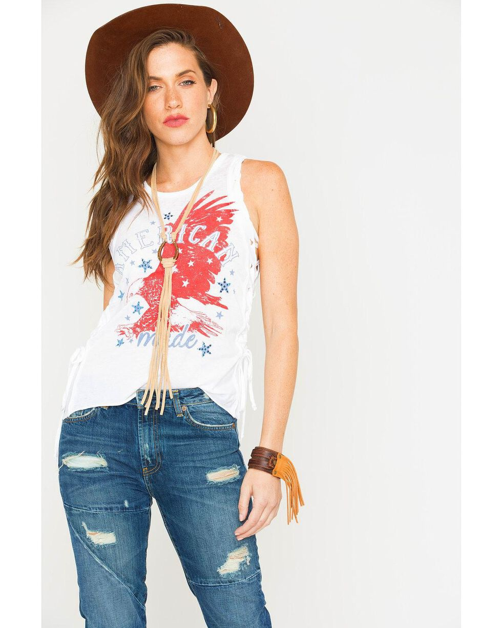 Z Supply Women's Braided Sleeveless Shirt, White, hi-res