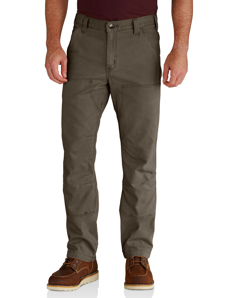 Carhartt Men's Rugged Flex Rigby Double-Front Pants - Straight Leg, Medium Grey, hi-res