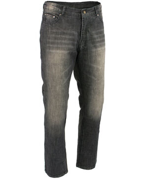 "Milwaukee Leather Men's Black 32"" Denim Jeans Reinforced With Aramid - Big, Black, hi-res"