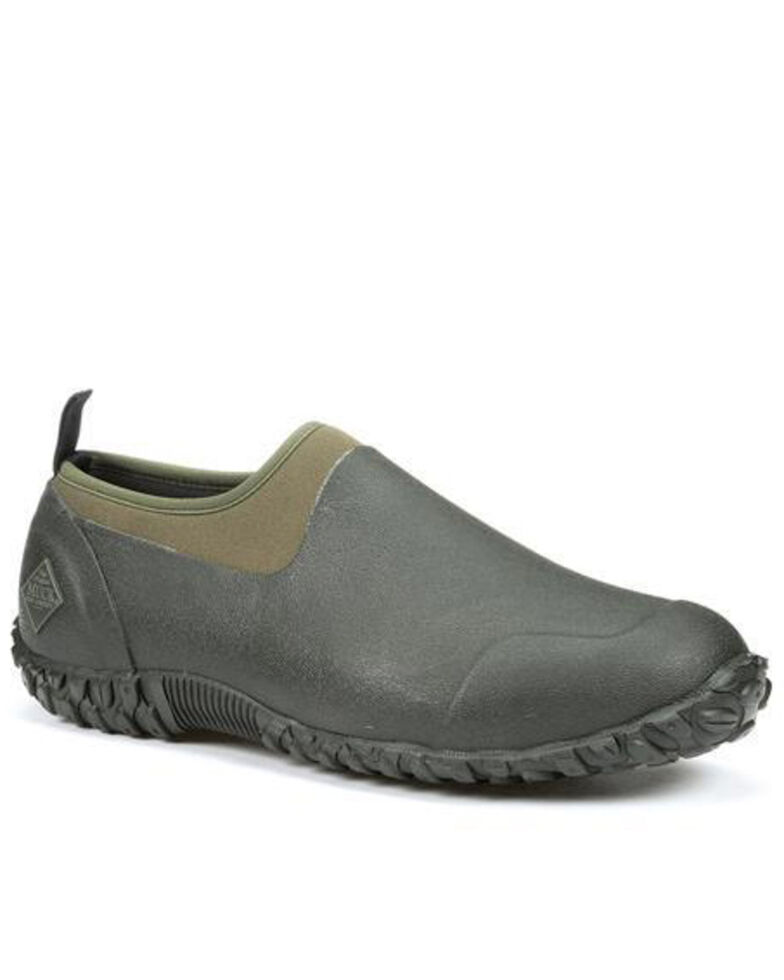 Muck Boots Men's Low Muckster II Rubber Shoes - Round Toe, Moss Green, hi-res