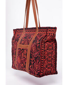 Johnny Was Oranda Market Tote , Black, hi-res