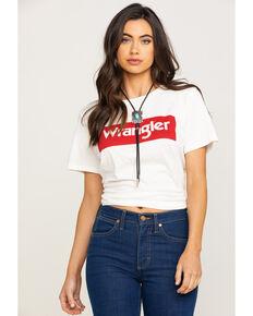 Wrangler Modern Women's White Logo Tee, White, hi-res
