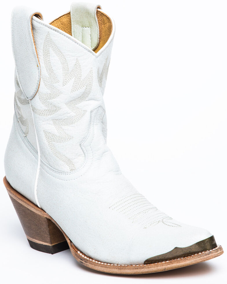 Idyllwind Women's Wheels White Western Booties - Pointed Toe, White, hi-res