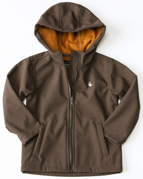 Cody James Toddler Boys' Snow Cat Hooded Bonded Zip-Up Jacket , Brown, hi-res