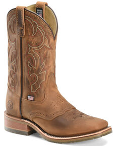 Double-H Men's ICE Roper Boots, Tan, hi-res