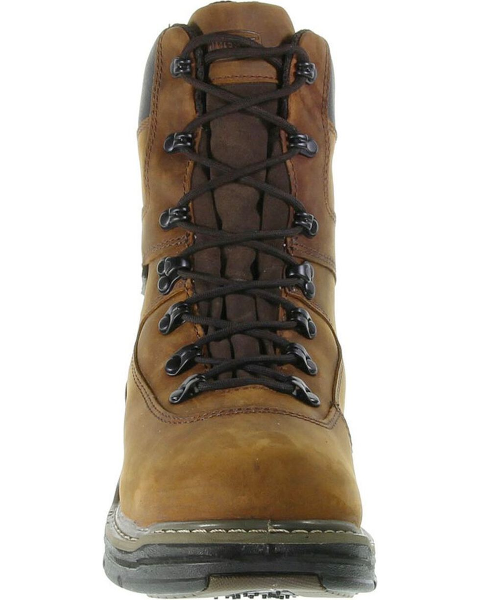 "Wolverine Men's Marauder 8"" Work Boots, Brown, hi-res"