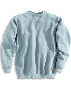 Carhartt Men's Midweight Crewneck Sweater, Hthr Grey, hi-res