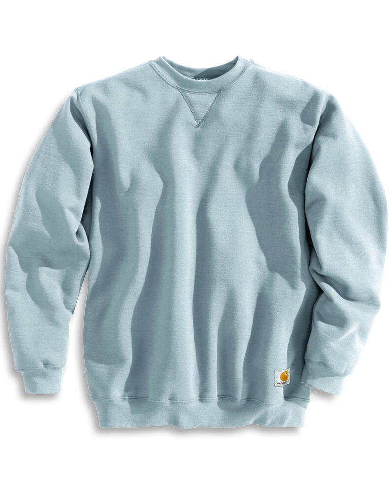 Carhartt Men's Midweight Crewneck Sweater, Hthr Grey, hi-res