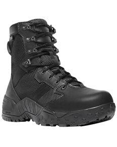 "Danner Men's Black Scorch Side Zip 8"" Boots - Round Toe , Black, hi-res"
