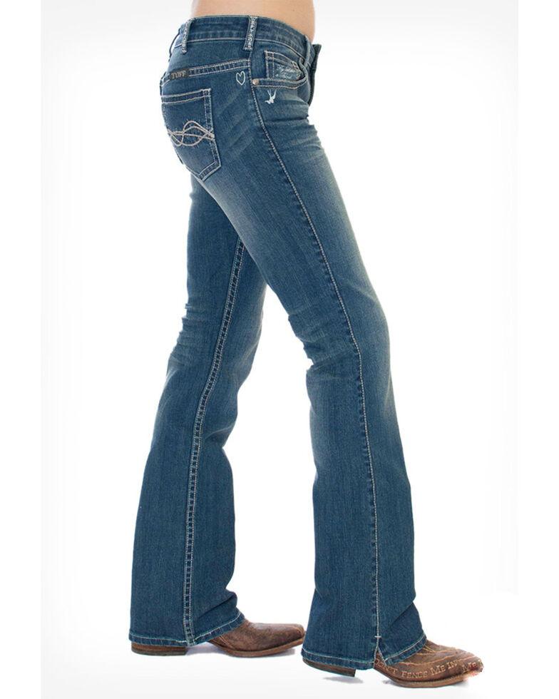 Cowgirl Tuff Women's Inspire Jeans, Medium Blue, hi-res