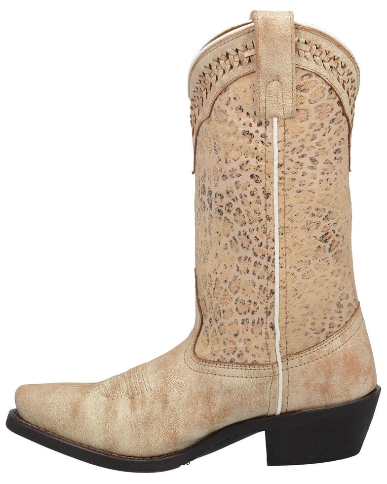 Laredo Women's Fade To Cat Western Boots - Square Toe, Off White, hi-res
