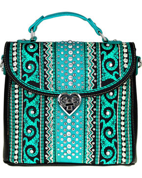 Montana West Women's Bling Bling Collection Tote/Crossbody Bag, Black, hi-res