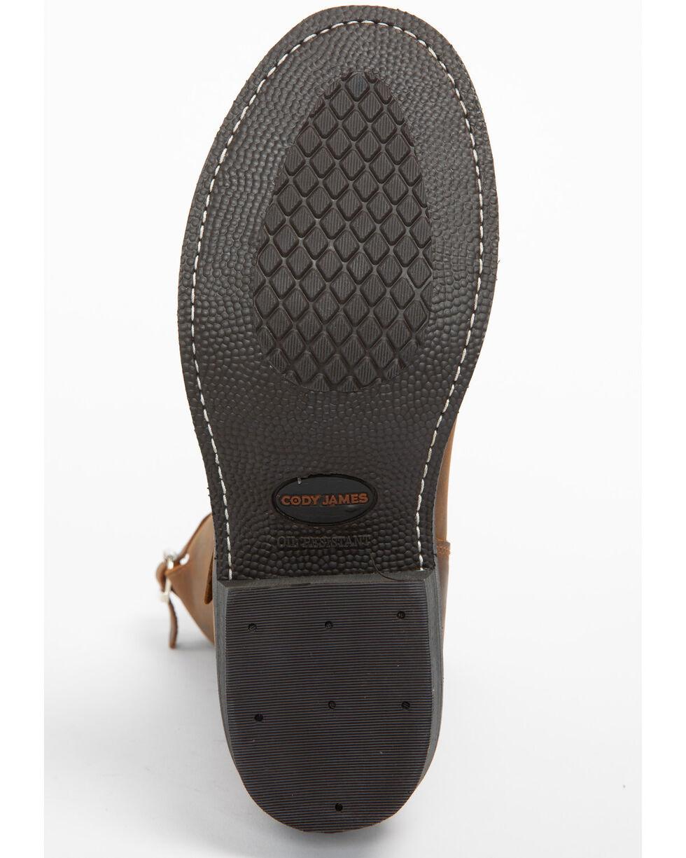 Cody James Men's Harness Moto Boots - Steel Toe, Brown, hi-res
