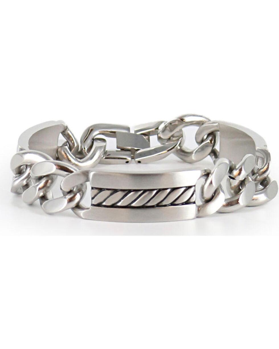 Cody James® Men's Silver Chain Bracelet , Silver, hi-res