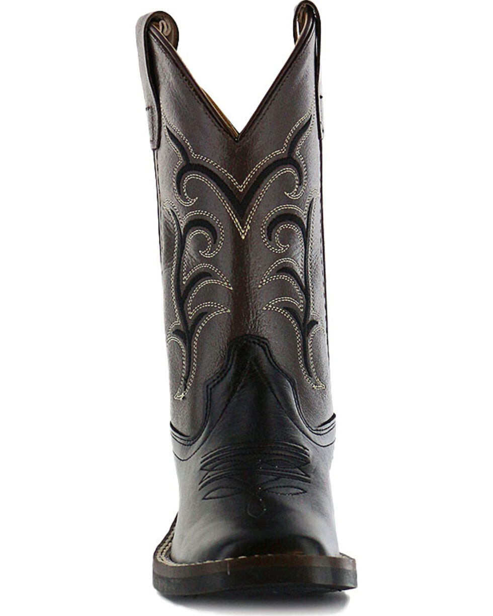 Cody James® Children's Broad Square Toe Western Boots, Black, hi-res