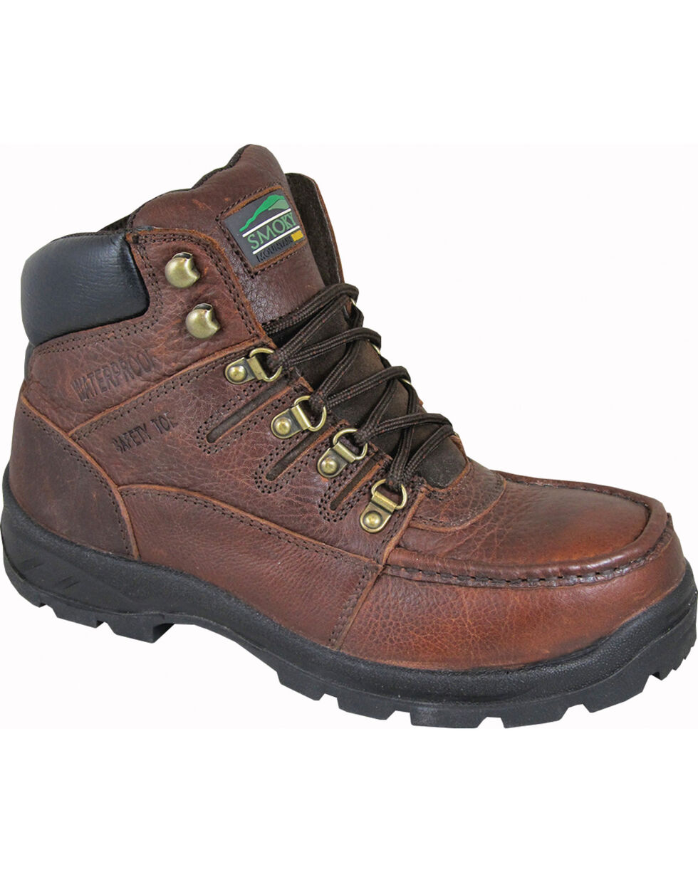 Smoky Mountain Men's Dixon Work Boots - Steel Toe, Brown, hi-res