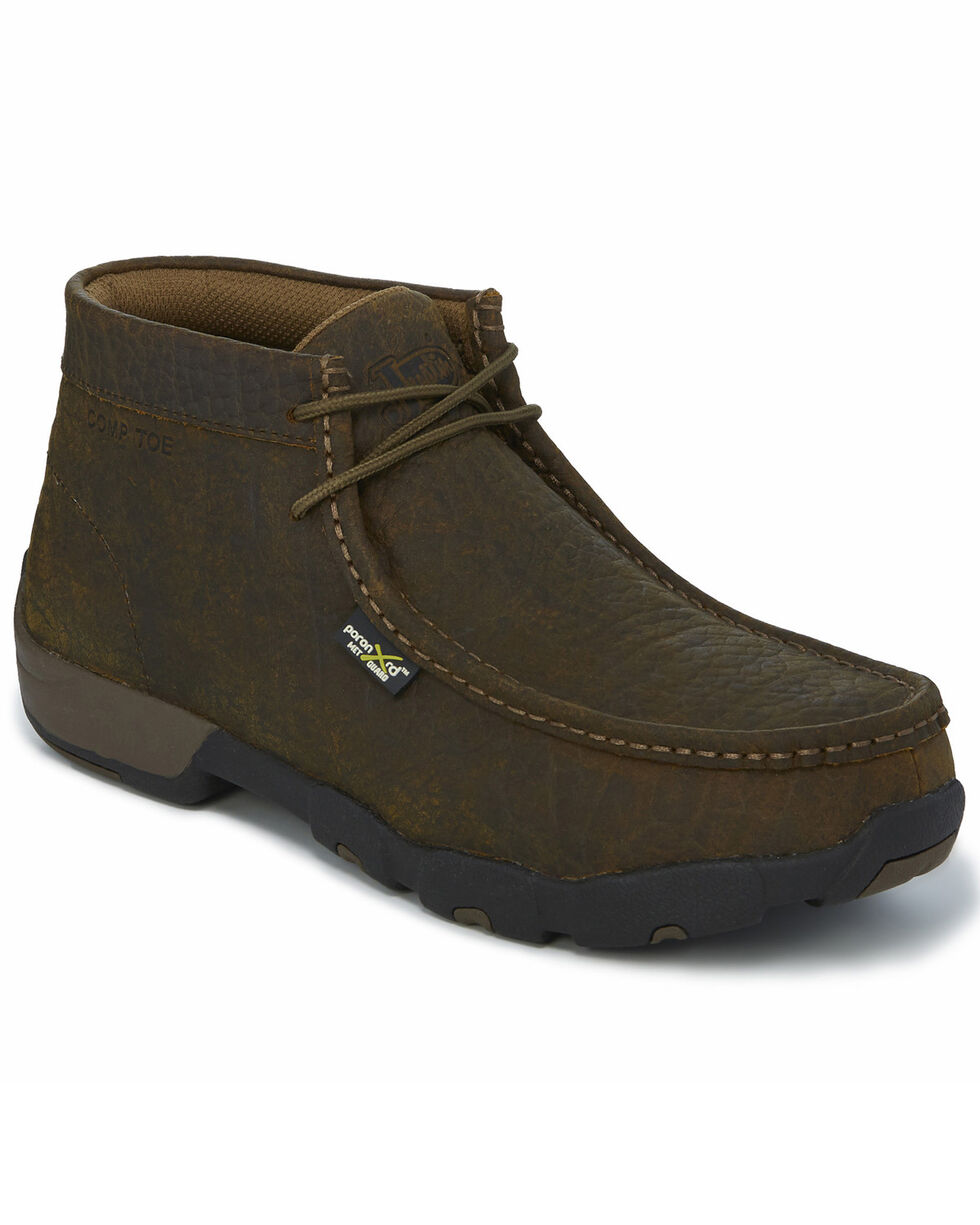 Justin Men's Cappie Work Boots - Composite Toe, Brown, hi-res