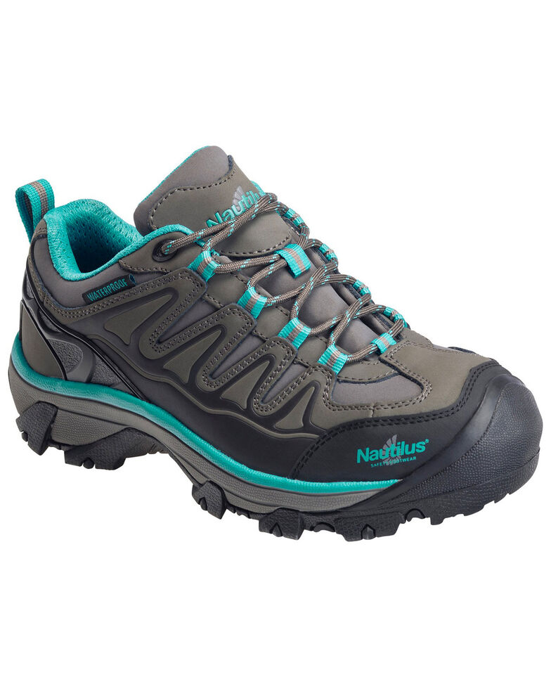 Nautilus Women's Waterproof Athletic Hiker Shoes - Steel Toe, Grey, hi-res