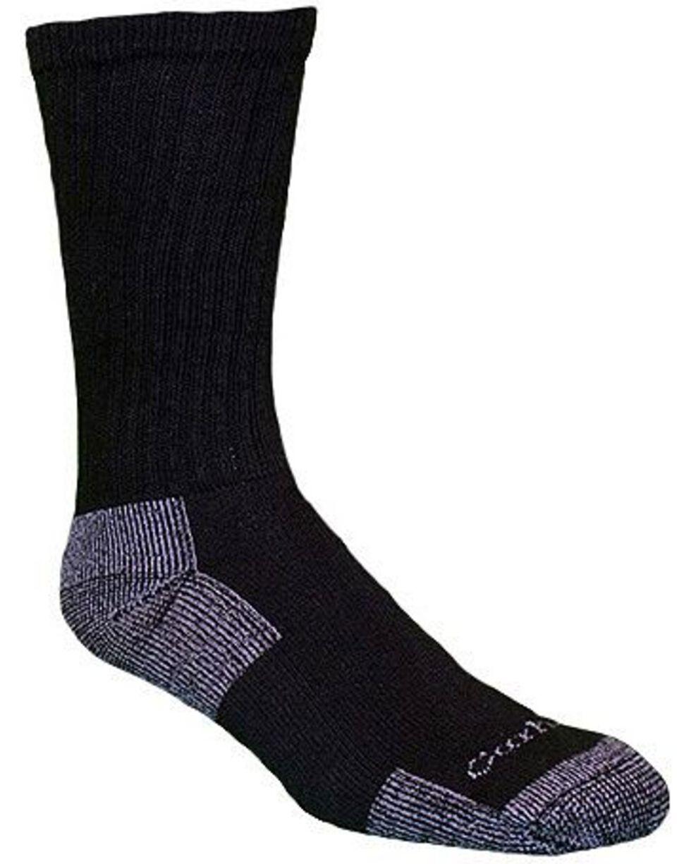Carhartt Men's 3 Pack All Season Socks, Black, hi-res