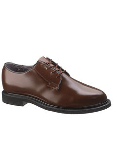 Bates Women's Brown Leather Oxford Shoes, Brown, hi-res