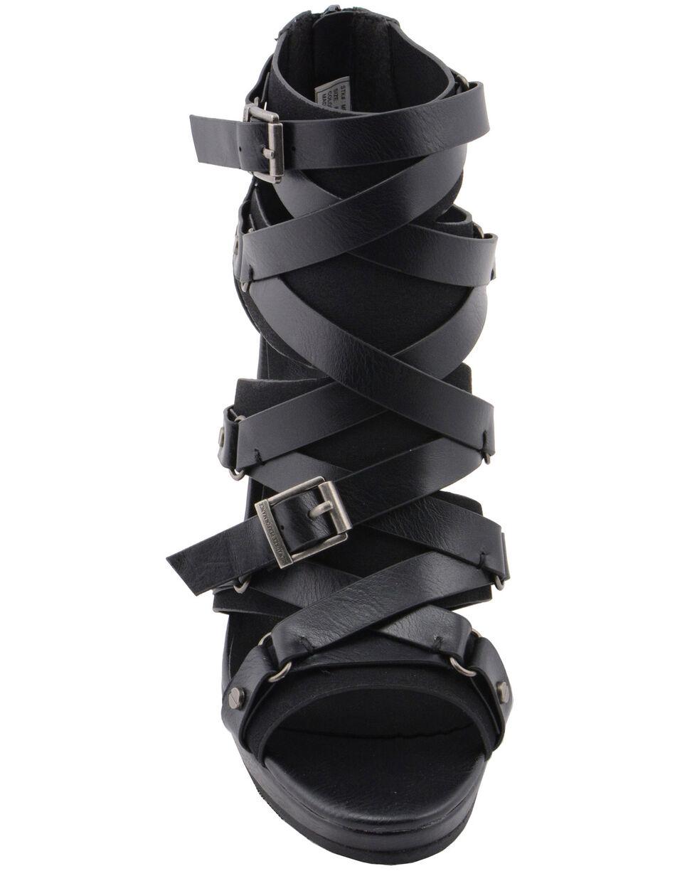 Milwaukee Performance Women's Ankle Strap Stiletto Sandals, Black, hi-res