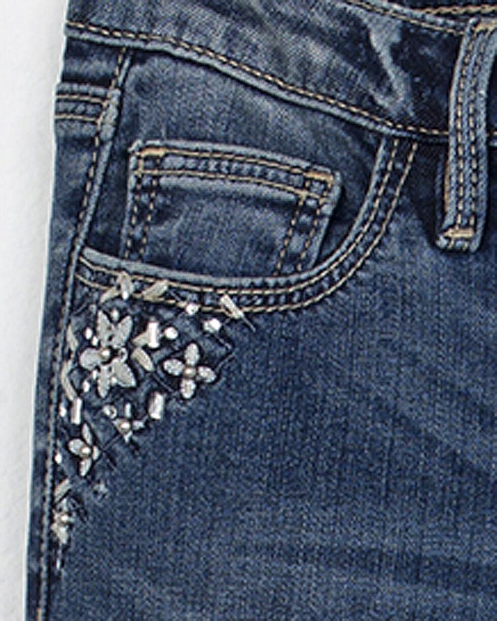 Miss Me Girls' All That Sparkles Ankle Skinny Jeans, Indigo, hi-res