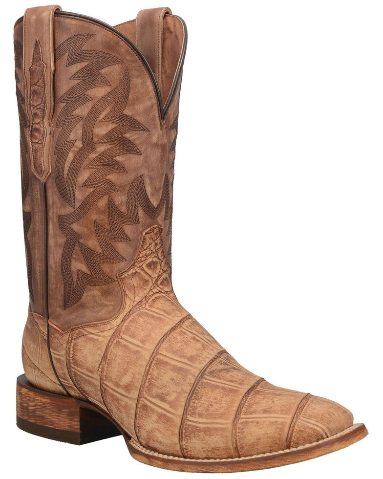Dan Post Men's Bowie Western Boots - Wide Square Toe, Tan, hi-res