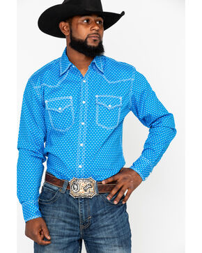 Wrangler 20X Men's Competition Advancaed Long Sleeve Western Shirt, Black/blue, hi-res