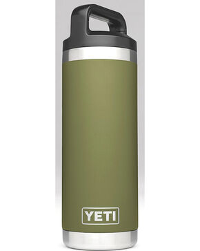 Yeti Olive Green 18 oz. Bottle Rambler , Olive, hi-res