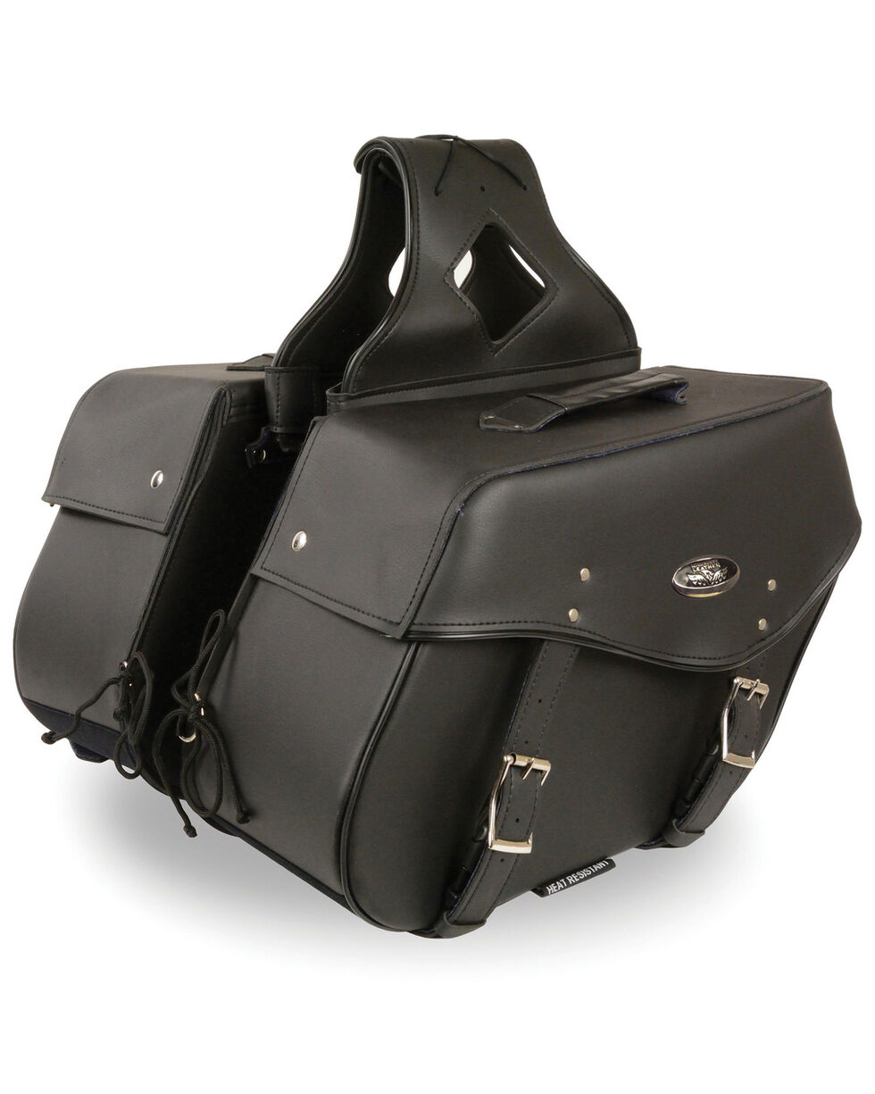 Milwaukee Leather Large Zip-Off Throw Over Saddle Bag, Black, hi-res