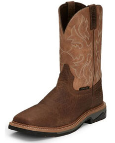 Justin Men's Stampede Comp Toe Work Boots, Pecan, hi-res