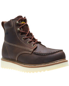 Wolverine Men's Loader Work Boots - Soft Toe, Brown, hi-res