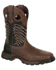 Durango Men's Maverick Waterproof Western Work Boots - Steel Toe, Brown, hi-res