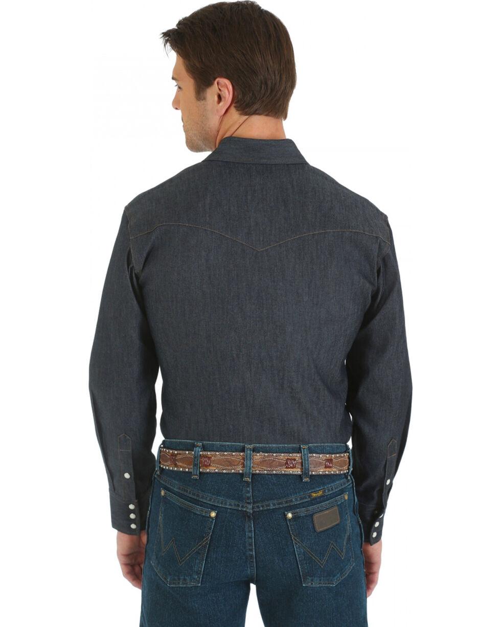Wrangler Denim Advanced Comfort Work Shirt, Denim, hi-res