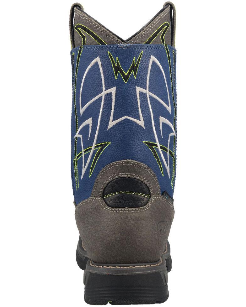 "Dan Post Men's 11"" Storm Surge Waterproof Western Work Boots - Composite Toe , Blue, hi-res"