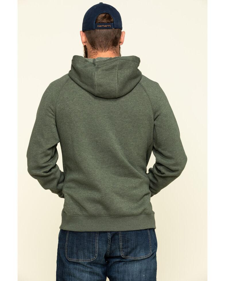 Carhartt Men's Moss Green Force Delmont Graphic Hooded Work Sweatshirt, Moss Green, hi-res
