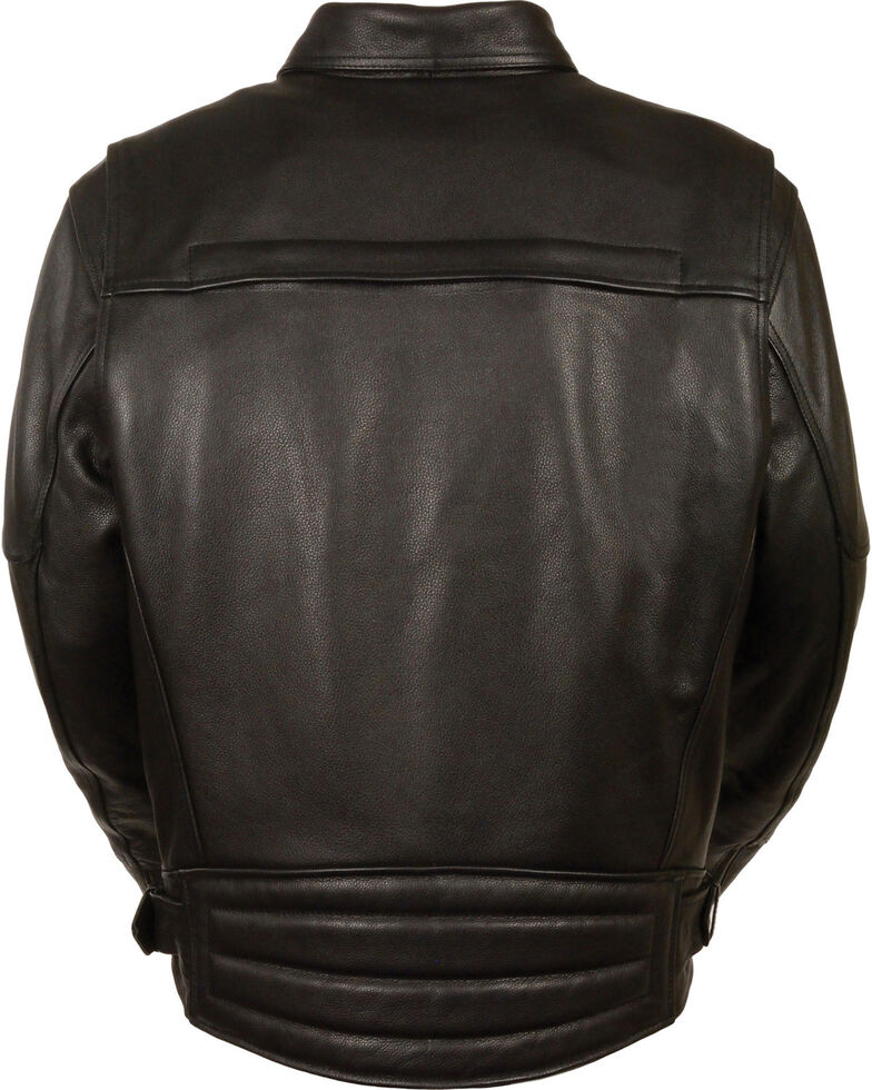 Milwaukee Leather Men's Side Set Belt Utility Pocket Motorcycle Jacket - 4X, Black, hi-res