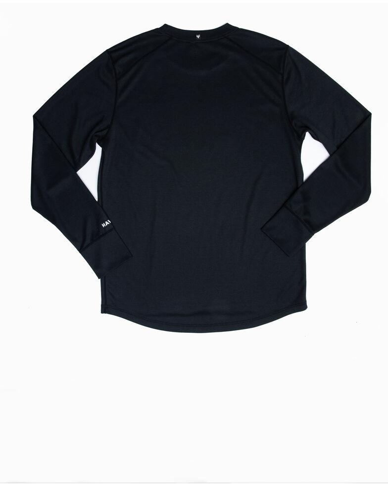 Hawx Men's Black Mid-Weight Base Layer Thermal Long Sleeve Work Shirt  , Black, hi-res
